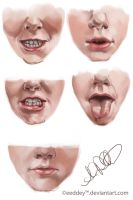 Lower-Face Sketch Studies - Part 1 by Eeddey