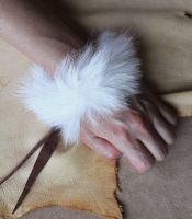 New fur bracelets on Etsy! by lupagreenwolf