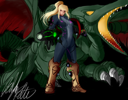 Perfect Works: Samus-Ridley by PeterPrime