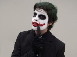 Joker Cosplay with a knife by AgentDesings