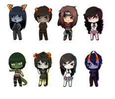 [Gifts] Christmas Chibis 2 by BubblesTea