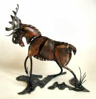 Moose Sculpture by Angi-kat