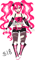 Rockstar Girl Adoptable (SOLD) by TerraTerrific