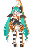 Halloween Miku by popkachu