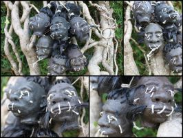 Shrunken heads by LaddeDadde