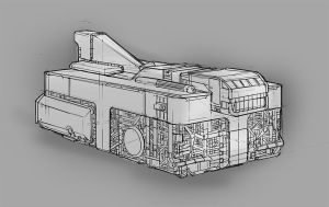 Boxy Spaceship Concept by excatriate