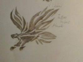 Tattoo Tribal : Hawk by chrissyh2015
