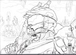 Master Chief lineart by shadesoflove