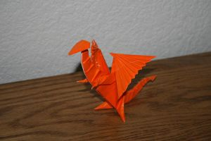 Origami Dragon by MuggleHater