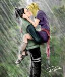 kiss under the rain by RamaChan