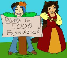 Thanks for 1,000 Pageviews by JTPepper09
