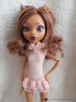 Hand knit Poofy Panty Onesie for Monster High by kivrin82