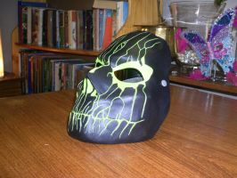 Cast Mask Black/Green with final coat 2 by foxdog77