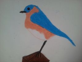 oil pastel bird by Cartoon-Heart