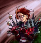 Lady Gnome With Big Wrench by frostcrystal