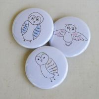 Owl buttons by tabithaemma