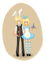 Kagamine Len and Rin - Welcome to Wonderland by nandaperotto