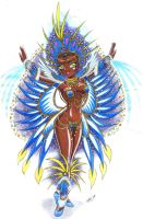 Fantasy of carnival bird blue by Celso33