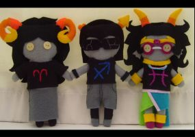 HS-Aradia,Equius+Feferi Plush by Alliaero