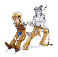 Cowboy and Indian by RuntyTiger