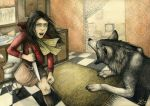 70's red riding hood by rose-colligan