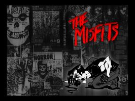 Misfits Wallpaper - Flyers by fiend-club