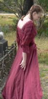 Graveyard - Red Dress - 03 by Gracies-Stock