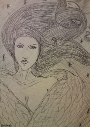 Lilith Dark Moon Biro Sketch