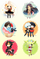 Chibi Commission*:: batch 3 :: by Hinausa