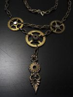 Steampunk Collier by Hellwolve
