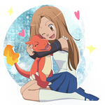 CM: Dav027 ~ Naomi and charmeleon by KurumiErika