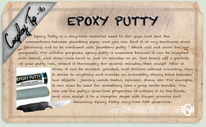 Cosplay Tip 6: Epoxy Putty by Bllacksheep