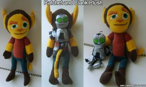 Ratchet and Clank Plush by TheNoTalentLoser