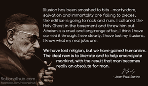 Jean-Paul Sartre on Secular Humanism.. by rationalhub