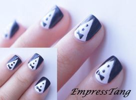 Tuxedo Nails by EmpressTang