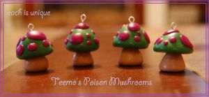 RETURNING: Teemo Poison Mushroom Charms by Railey98