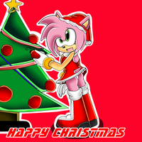 xX Happy Christmas - Amy Rose Xx by CrazyIceCream4ever