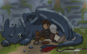 RotG/HTTYD: Its Raining? I Didn't Notice by JodieDoe