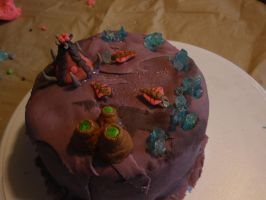 Mini Zerg Cake by Elliesmeria