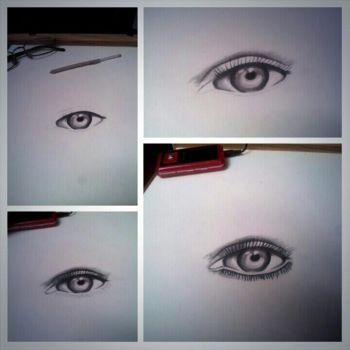eye drawing by Wallace21