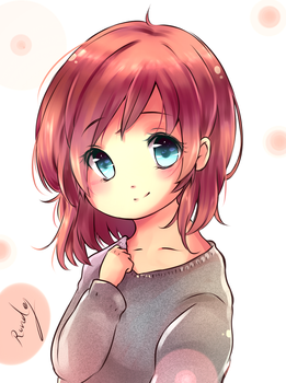 cutey anime girl by Rondey