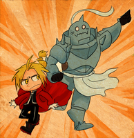 GO GO GO TEAM ELRIC WOOO by schellibie