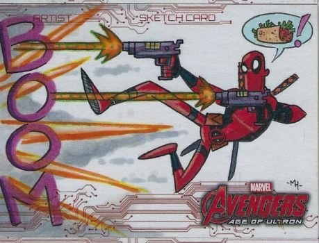 Deadpool - Sketch Card by tyrannus
