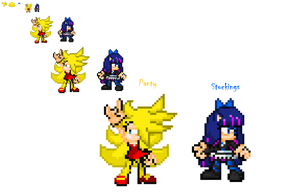 Panty and Stockings Sprite .:Sonic Style:. by FrostBurned-Soul
