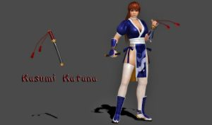 100% Pose-able Kasumi Katana by bstylez