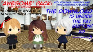 Hetalia MMD_Prussia, Hungary and Romania Dolls DL by Noir74