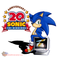 Sonic 20th by KairaA-TheCat