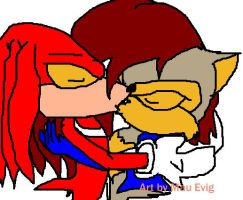 Knuckles and Sally by LitianQueen