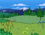 Evergreen Field by Anax253