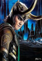 Tom Hiddleston as Loki in Jotunheim by dbrytpurl09